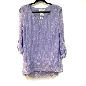 Indigo Soul Lavender Tunic Sweater